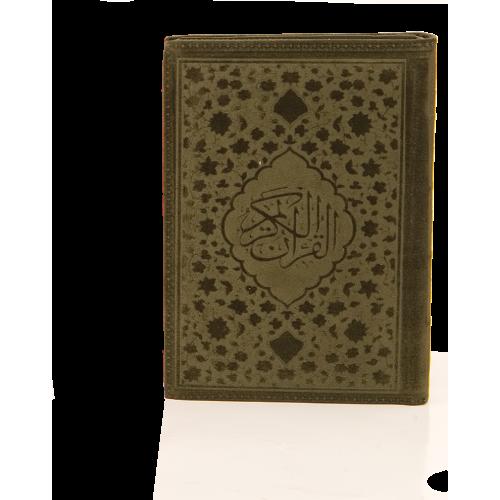 Çanta Boy Kur'an-ı Kerim 5 Renk Şamua Flog Kadife Kılıflı Hamit Aytaç Hatlı (1533F)